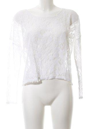 Gina Spitzenbluse weiß Blumenmuster Elegant