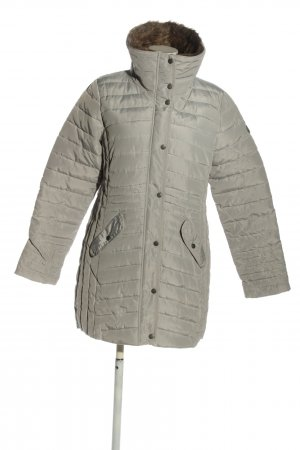 Gina Quilted Coat light grey quilting pattern casual look