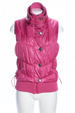 Gina Quilted Gilet pink quilting pattern casual look