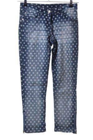 Gina Jeansy z prostymi nogawkami niebieski-jasnoszary Wzór w kropki