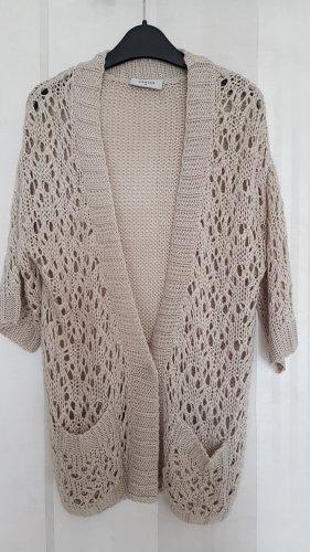 Gina Coarse Knitted Jacket oatmeal