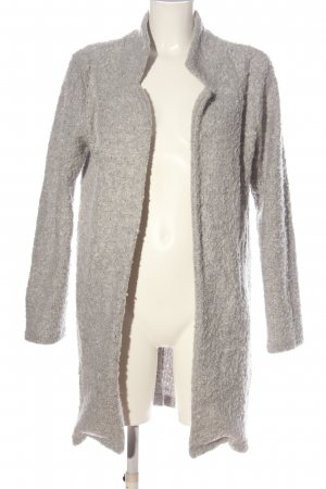 Gina Knitted Coat light grey flecked casual look