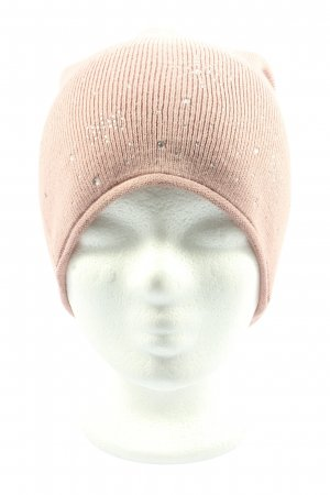 Gina Knitted Hat pink cable stitch casual look