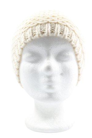 Gina Chapeau en tricot blanc cassé style décontracté