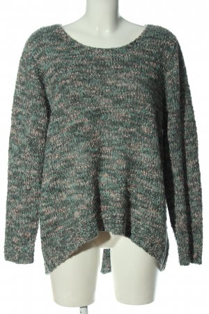 Gina Knitted Sweater green-cream flecked casual look