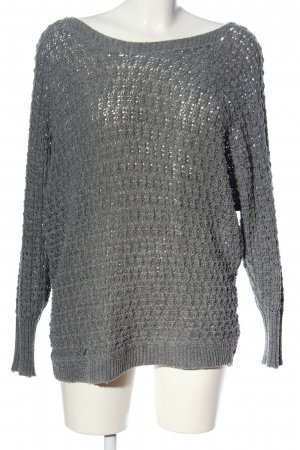 Gina Strickpullover hellgrau Zopfmuster Casual-Look