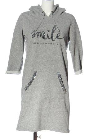 Gina Abito felpa grigio chiaro-argento puntinato stile casual