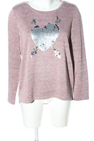 Gina Sweatshirt pink meliert Casual-Look