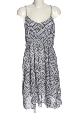 Gina Pinafore dress light grey-black allover print casual look