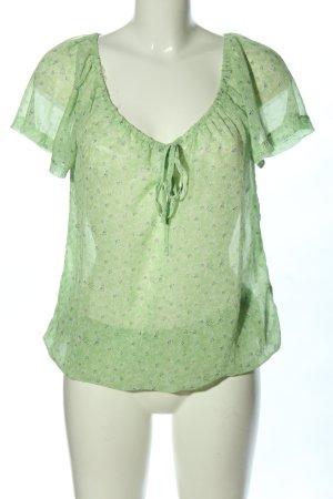 Gina Transparante blouse groen volledige print casual uitstraling