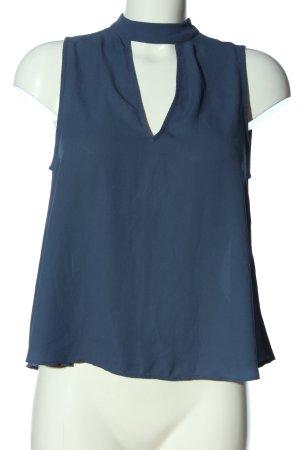 Gina Tricot ärmellose Bluse blau Business-Look