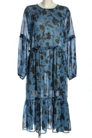 Gina Tricot Sukienka koszulowa niebieski-czarny Na całej powierzchni