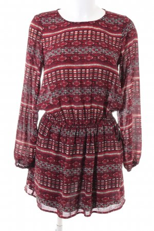 Gina Tricot Blusenkleid grafisches Muster Casual-Look