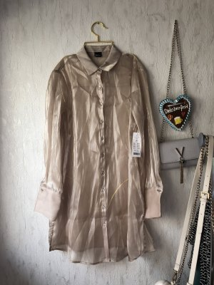 Gina Tricot Blouse Dress gold-colored-nude