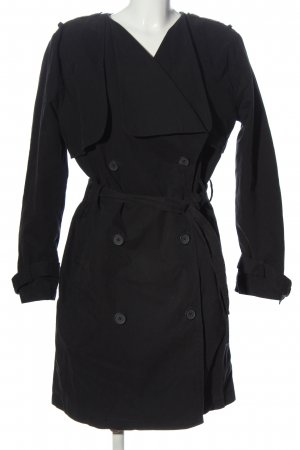 Gina Tricot Floor-Lenght Coat black casual look