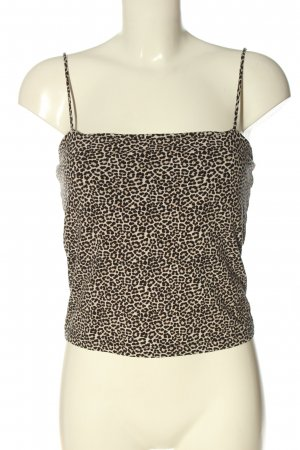 Gina Tricot Camisole creme-braun Allover-Druck Casual-Look