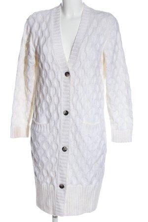 Gina Tricot Cardigan blanc torsades style décontracté