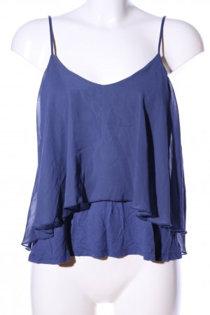 Gina Tricot Cropped Top blau Casual-Look