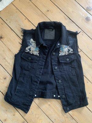 Gina Tricot Gilet en jean noir