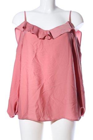 Gina Tricot Blouse brillante rose style décontracté