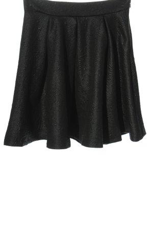Gina Tricot Rozkloszowana spódnica czarny W stylu casual