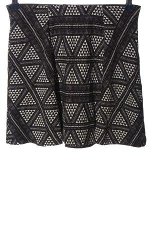 Gina Tricot Glockenrock schwarz-weiß grafisches Muster Casual-Look
