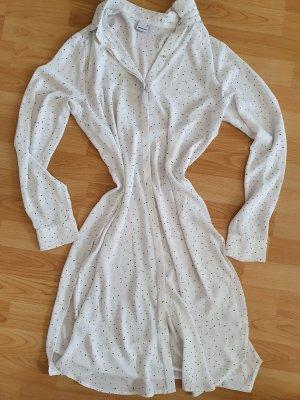 Gina Tricot Gr. 38 Hemdkleid Blusenkleid weiß schwarz Kleid top Zustand