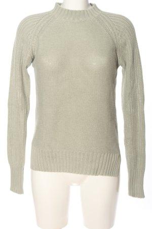 Gina Tricot Jersey de punto grueso gris claro punto trenzado look casual