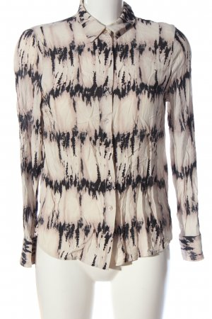 Gina Tricot Hemd-Bluse creme-schwarz Casual-Look