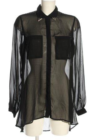 Gina Tricot Hemd-Bluse schwarz Elegant