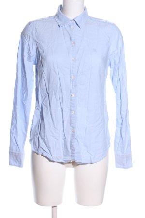 Gina Tricot Hemd-Bluse blau Business-Look