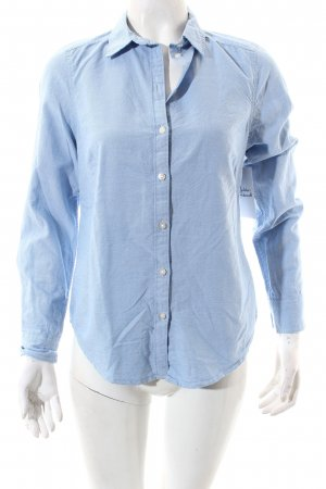 Gina Tricot Hemd-Bluse himmelblau meliert Business-Look