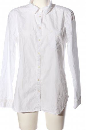 Gina Tricot Hemd-Bluse weiß Business-Look