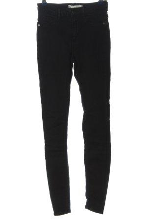 Gina Tricot Jeans taille haute noir style décontracté