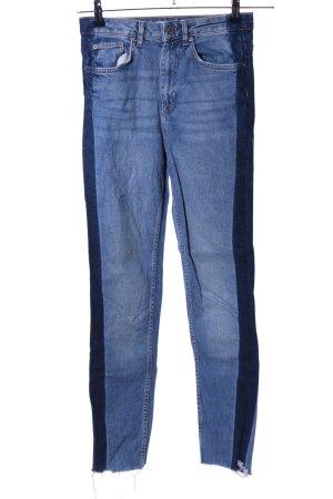 Gina Tricot High Waist Jeans blau-schwarz Casual-Look