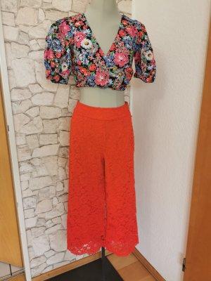 Gina Tricot Falda pantalón de pernera ancha rojo