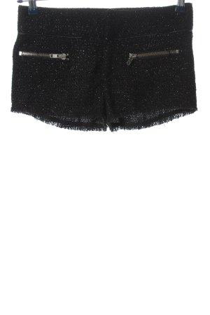 Gina Tricot Pantalón corto negro brillante