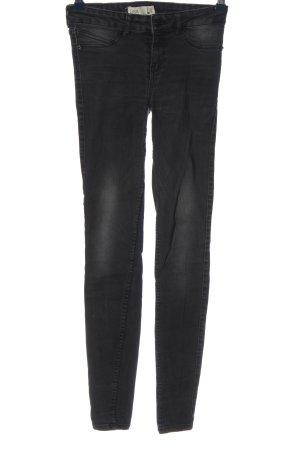 Gina Tricot Jeansy biodrówki czarny W stylu casual
