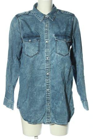 Gina Tricot Jeanshemd blau Casual-Look