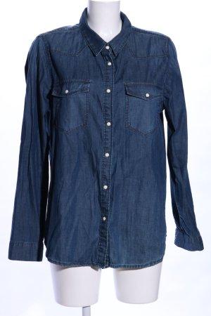 Gina Tricot Spijkershirt blauw casual uitstraling