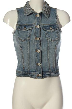 Gina Tricot Gilet en jean bleu style décontracté