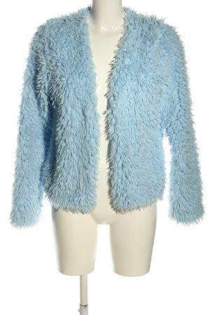 Gina Tricot Kunstfelljacke blau Casual-Look