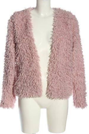 Gina Tricot Fake Fur Jacket pink casual look