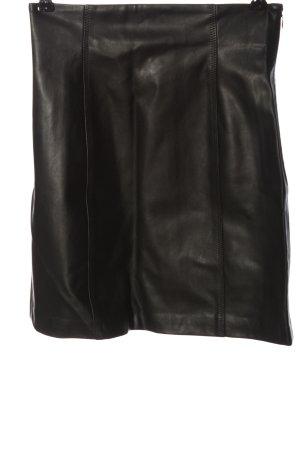 Gina Tricot Jupe en cuir synthétique noir style décontracté