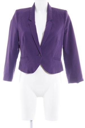 Gina Tricot Kurz-Blazer dunkelviolett Business-Look