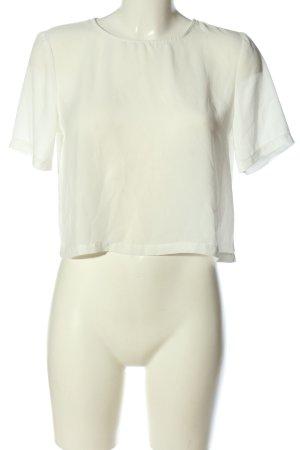Gina Tricot Blusa de manga corta blanco look casual