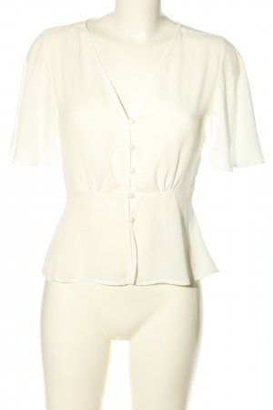 Gina Tricot Kurzarm-Bluse weiß Casual-Look