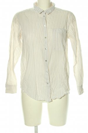 Gina Tricot Long Sleeve Blouse cream-white striped pattern casual look