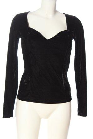 Gina Tricot Langarm-Bluse schwarz Elegant