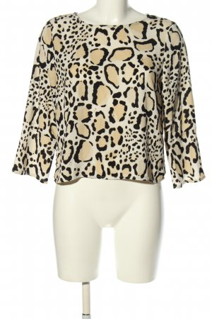 Gina Tricot Langarm-Bluse Leomuster Casual-Look